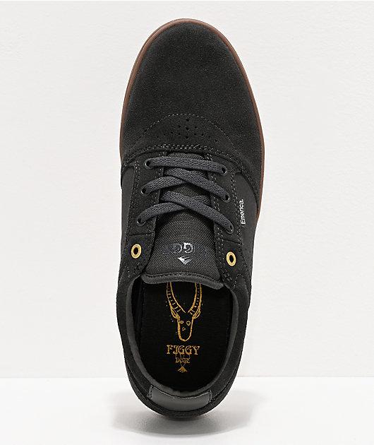 Emerica Figgy Dose Grey & Gum Skate Shoes