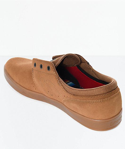 Emerica Figueroa Brown & Gum Suede Skate Shoes