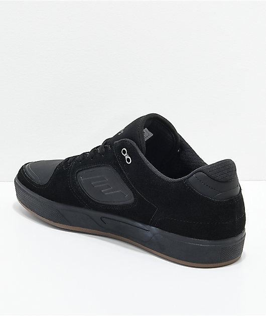 Emerica Reynolds G6 Black Suede & Gum Skate Shoes | Zumiez