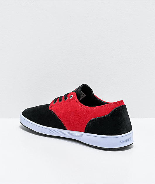 Emerica Romero Laced Black, Red & White Skate Shoes