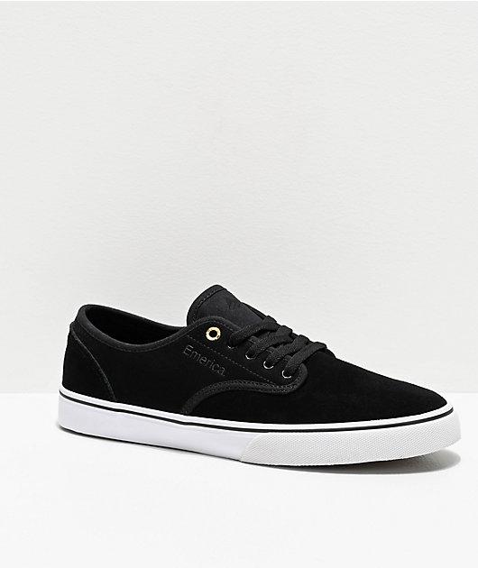 Emerica Wino Standard Black, White & Gold Skate Shoes