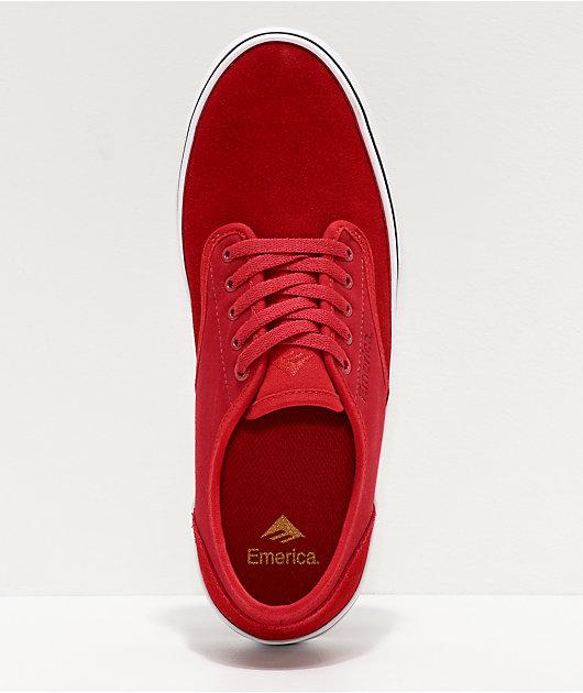 Emerica Wino Standard Red & White Skate Shoes