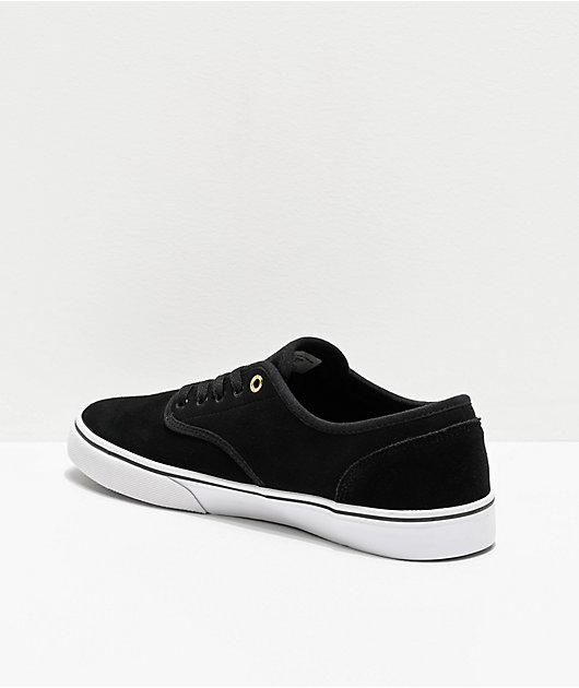 Emerica Wino Standard zapatos de skate negros, blancos y dorados
