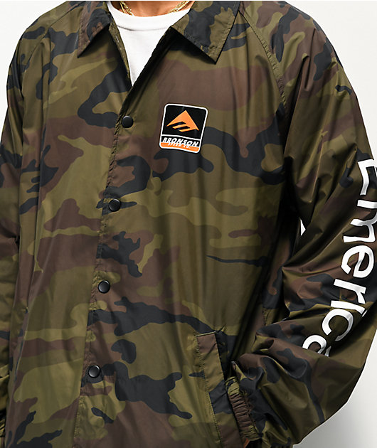 Emerica x Bronson Camouflage Coaches Jacket