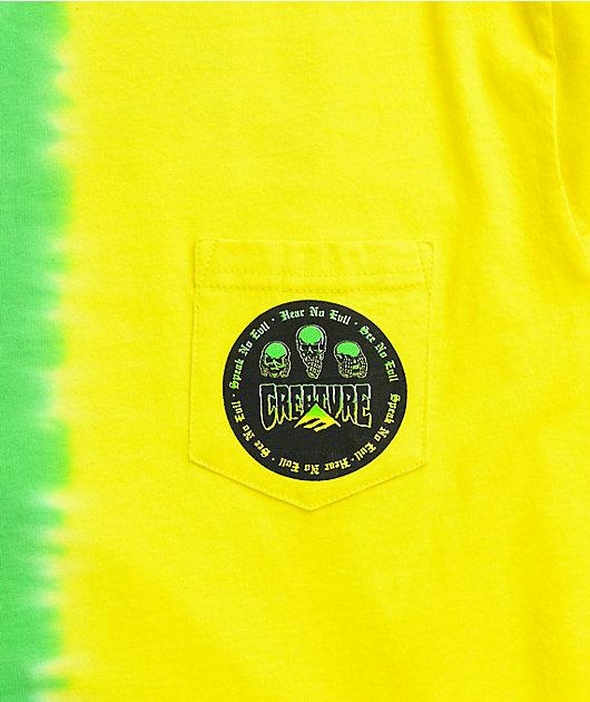 Emerica x Creature Evil Pocket Yellow & Green T-Shirt