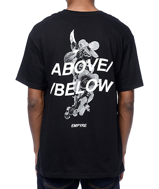 Empyre Above Below camiseta en negro