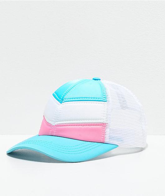Empyre Aleksia Quilt Chevron gorra blanca, azul y rosa