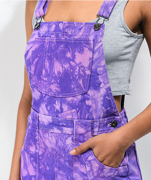 Empyre Allysha Purple & Pink Tie Dye Overall Dress