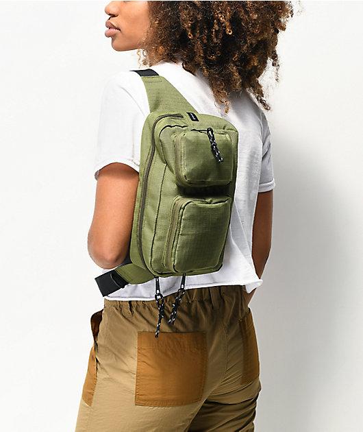 Empyre Anouk Olive Green Crossbody Bag