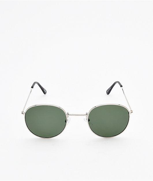 Empyre Artie Fashion Green & Silver Sunglasses