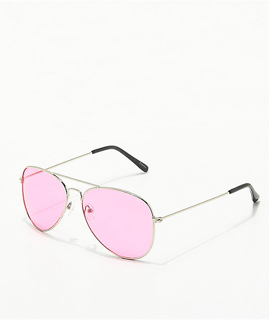 Empyre Aviator Red & Silver Sunglasses
