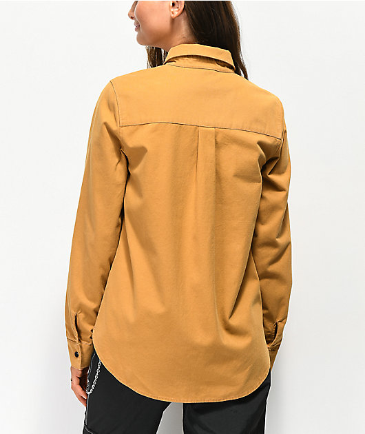 Empyre Bane Brown Long Sleeve Button Up Shirt