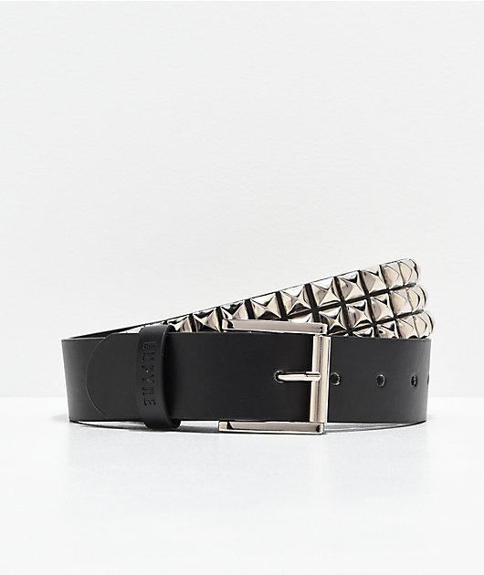 Empyre Black & Silver Studded Belt