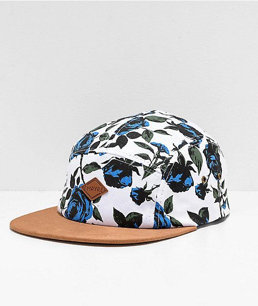Empyre Blue Rose 5 Panel Strapback Hat