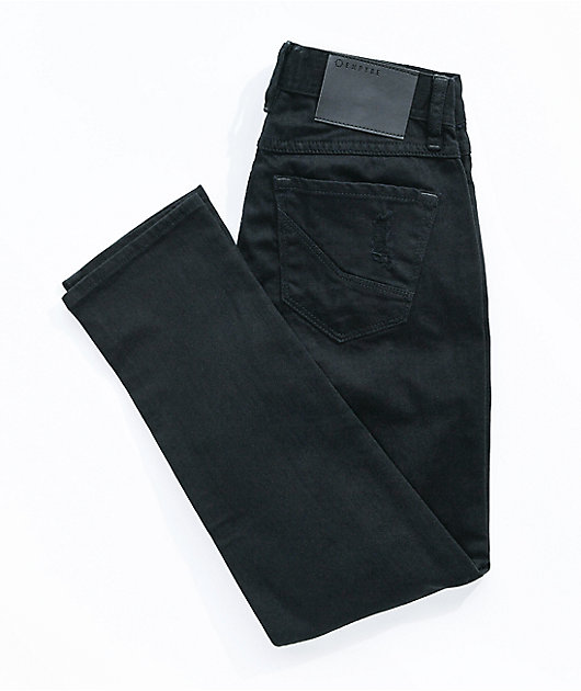Empyre Boys Verge Destroy Black Skinny Jeans