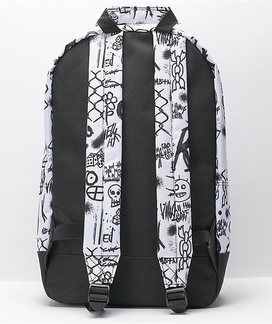 Empyre Brenda Doodles Beep White & Black Backpack