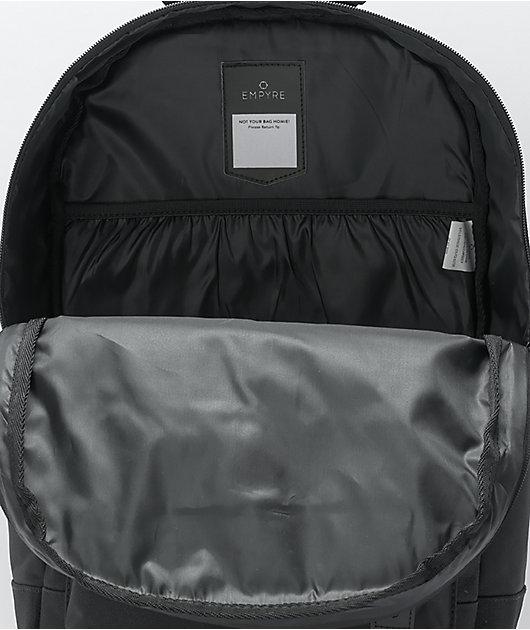 Empyre Brenda Embroidered Rose Black Backpack
