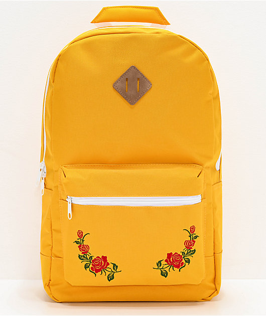 Empyre Brenda Roses Yellow Backpack