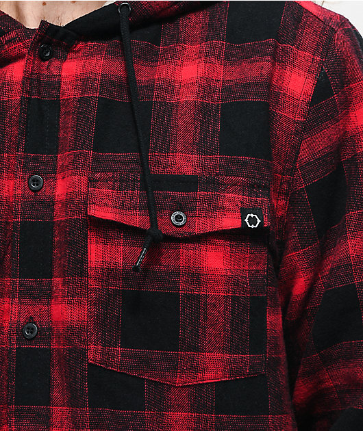 Empyre Cain camisa de franela negra y roja