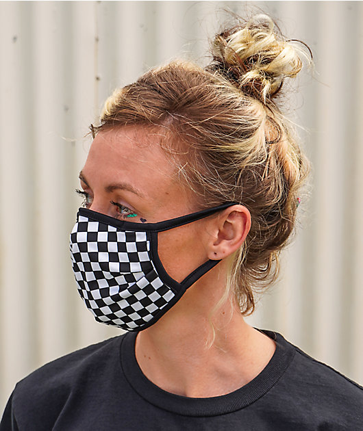 Empyre Check It Out Black & White Face Mask