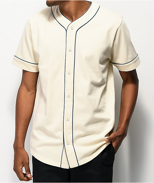 Empyre Chuck Off White & Blue Baseball Jersey
