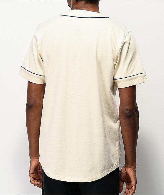 Empyre Chuck camiseta de béisbol blanca y azul