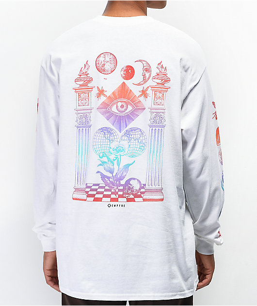 Empyre Collide White Long Sleeve T-Shirt
