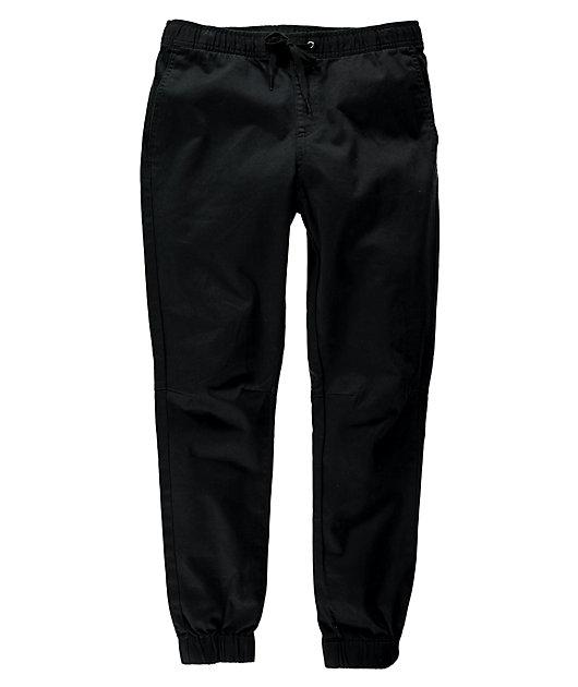 Empyre Creager Stretch Elastic Waist Black Jogger Pants