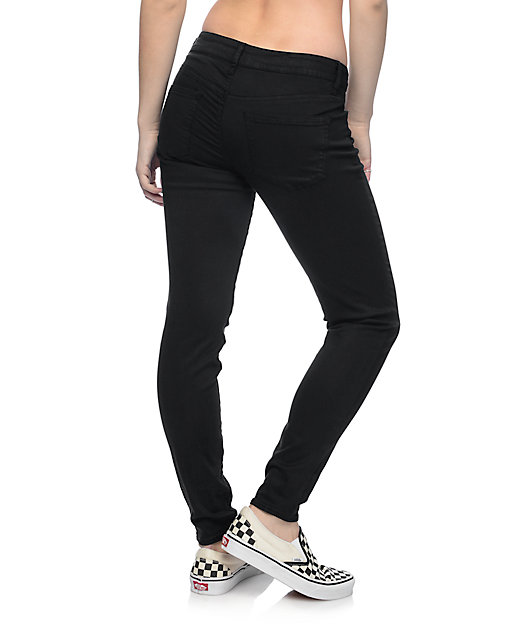Empyre Delaney Black Sateen Skinny Pants