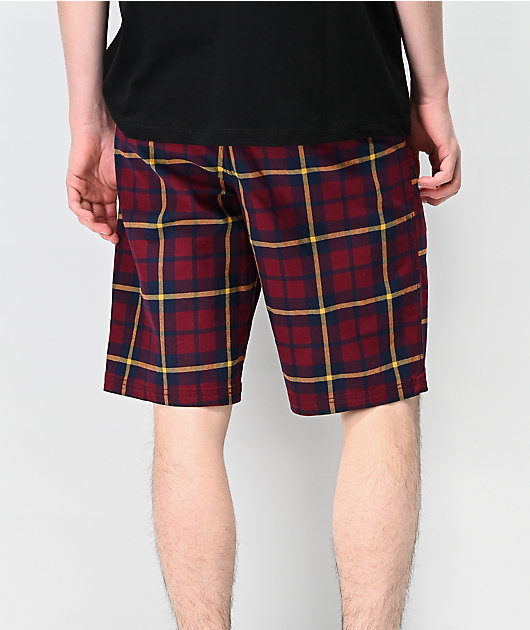 Empyre Derelict Red Plaid Shorts