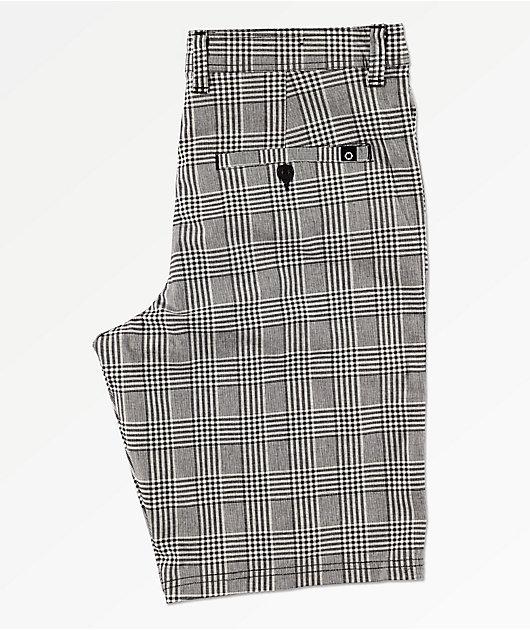 Empyre Derelict shorts de tartán gris y negro