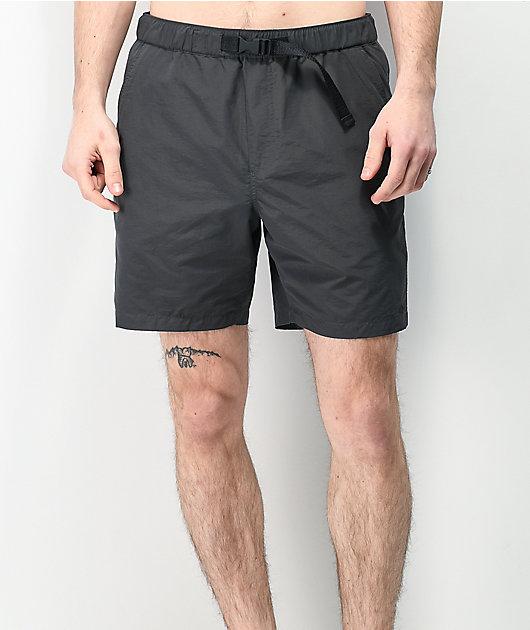 Empyre Dixon Dark Grey Elastic Waist Shorts