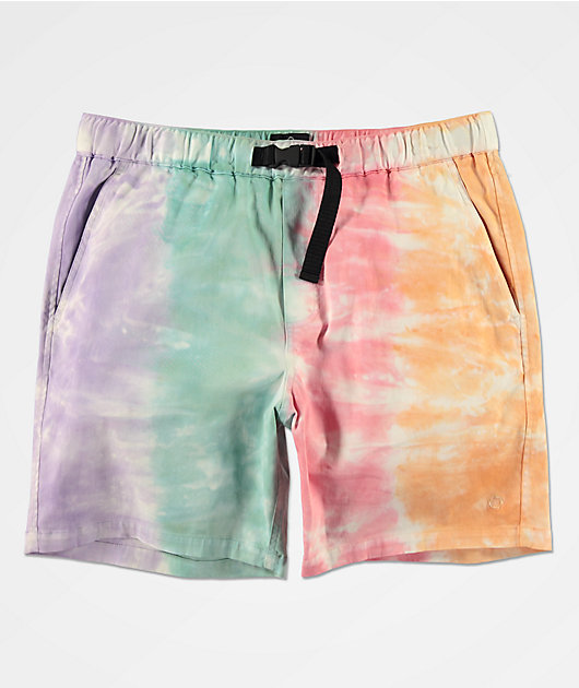 Empyre Dixon Tie Dye Elastic Waist Shorts
