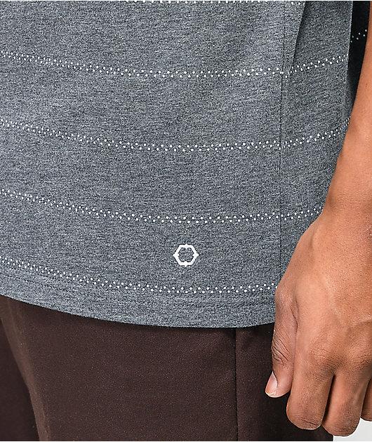 Empyre Dot Stripe Grey T-Shirt