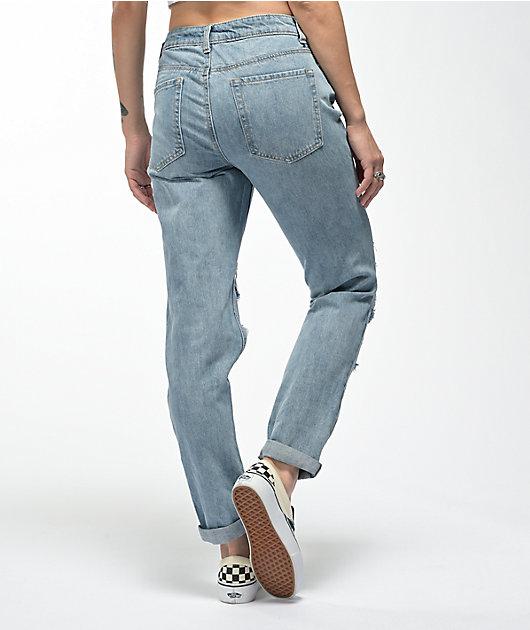 Empyre Easton Rip Repair Distressed Denim Jeans