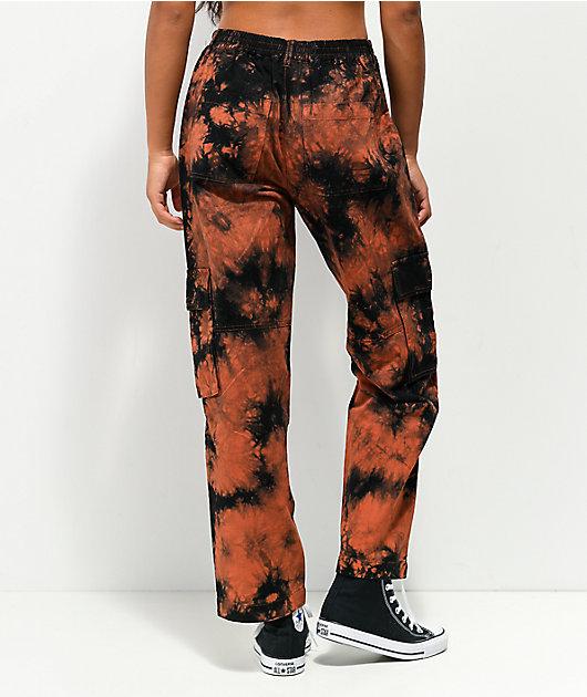 Empyre Echo Orange & Black Cargo Pants