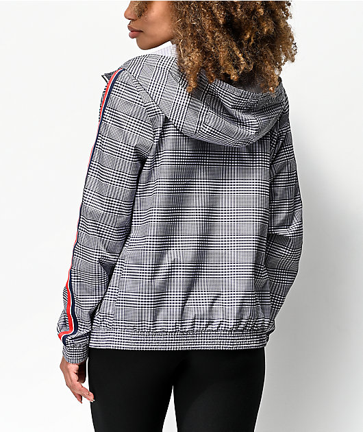 Empyre Edana Plaid Windbreaker Jacket