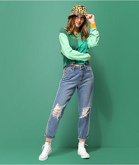Empyre Eileen jeans con cinta de cuadros
