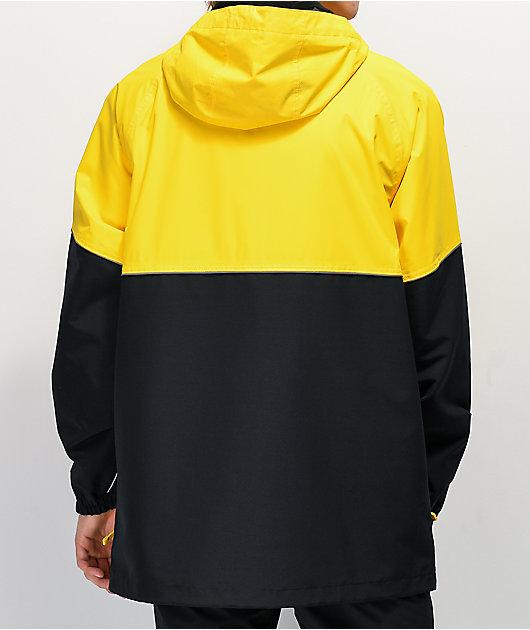 Empyre Far East 10k chaqueta de snowboard negra y amarilla