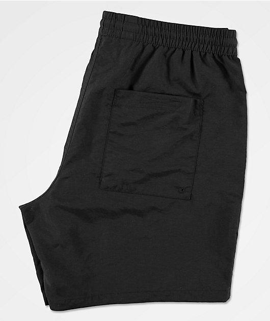 Empyre Floater shorts de baño negros y blancos