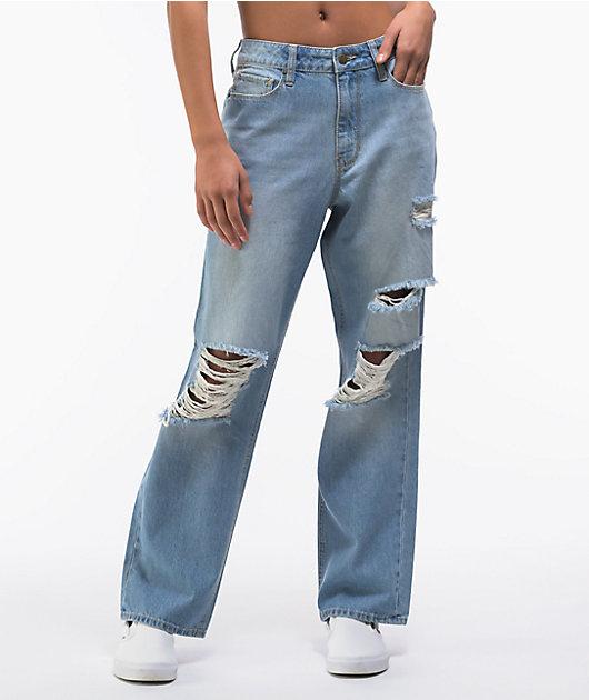 Empyre Frankie Light Wash Dad Jeans
