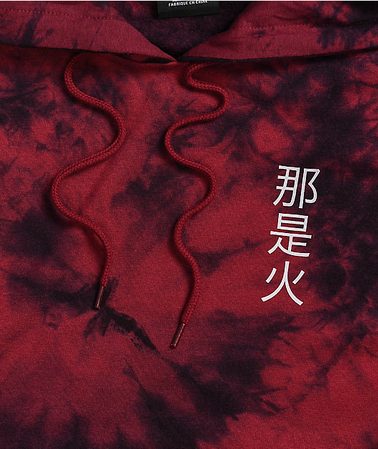 Empyre Fredia Dragon Red Tie Dye Hoodie