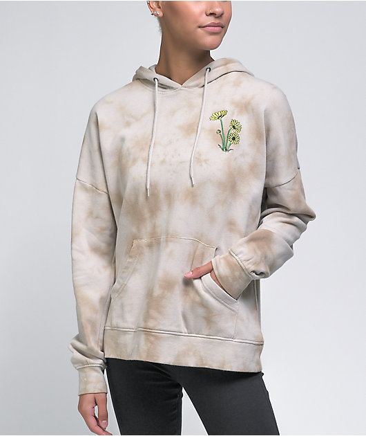 Empyre Fredia Embroidered Tan Tie Dye Hoodie