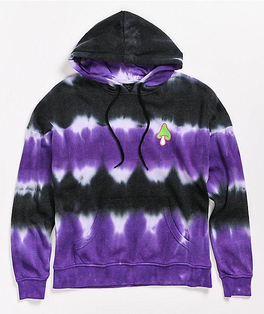 Empyre Fredia Old Soul Black & Purple Tie Dye Hoodie