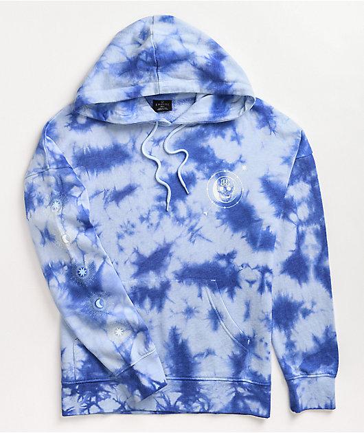 Empyre Fredia Skull Blue Tie Dye Hoodie
