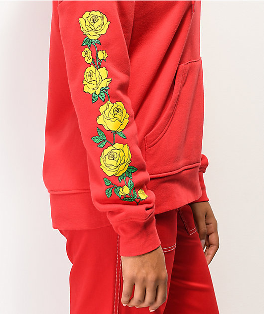 Empyre Fredia Yellow Rose Red Hoodie