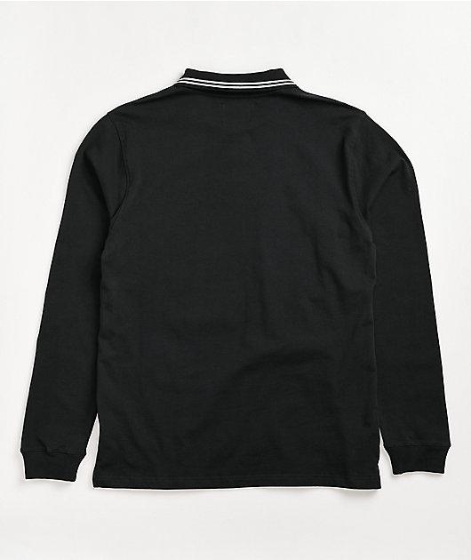 Empyre Global Long Sleeve Black Polo Shirt