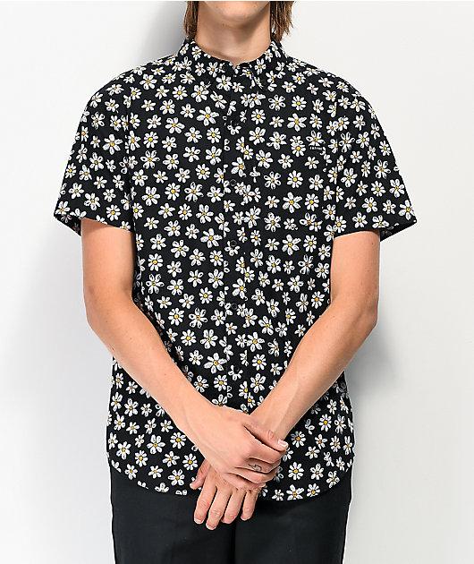 Empyre Harry Daisy camisa de manga corta de tejido negro