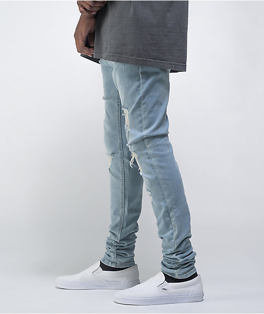 Empyre Havoc EXT Stretch Racing Blue Ultra Skinny Jeans