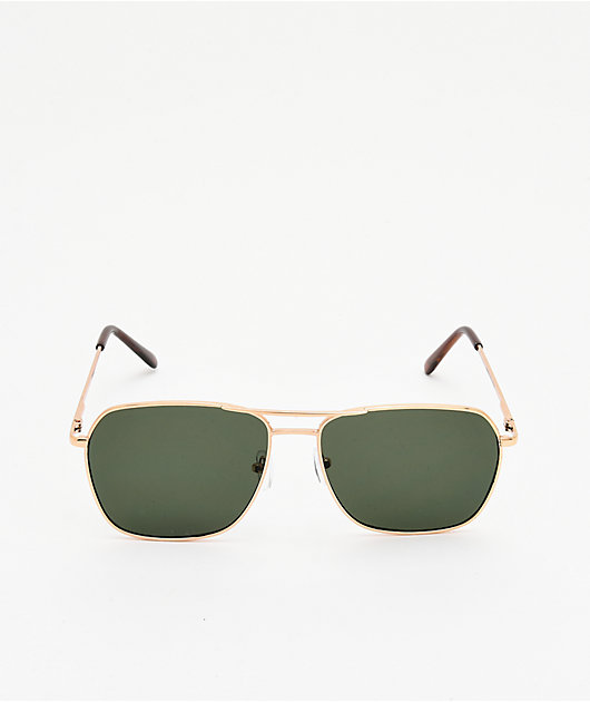 Empyre Hayes Gold & Green Sunglasses